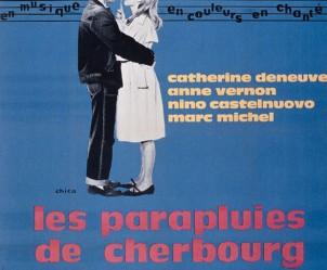 Affiche du film Les Parapluies de Cherbourg de Jacques Demy