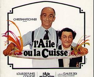 Affiche du film L'aile ou la cuisse de Claude Zidi