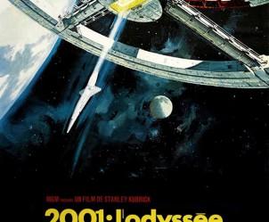 Affiche du film 2001, l'odyssée de l'espace de Stanley Kubrick