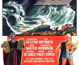 Affiche du film Les Dix commandements de Cecil B. DeMille