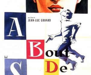 Affiche du film A bout de souffle de Jean-Luc Godard
