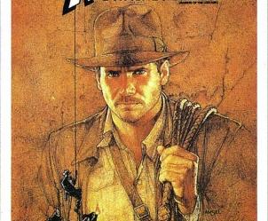 Affiche du film Les Aventuriers de l'Arche perdue de Steven Spielberg