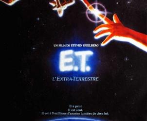 Affiche du film E.T. l'extra-terrestre de Steven Spielberg