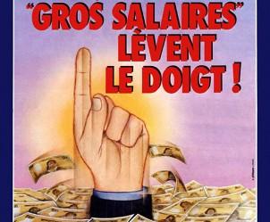 Affiche du film Que les gros salaires lèvent le doigt ! de Denys Granier-Deferre
