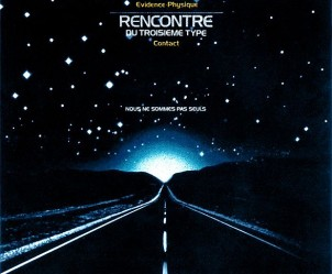 Affiche du film Rencontres du troisième type de Steven Spielberg