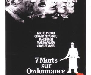 Affiche du film Sept morts sur ordonnance de Jacques Rouffio