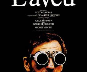 Affiche du film L'aveu de Costa-Gavras