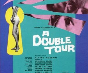 Affiche du film A double tour de Claude Chabrol
