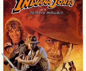 Affiche du film Indiana Jones et le Temple maudit de Steven Spielberg