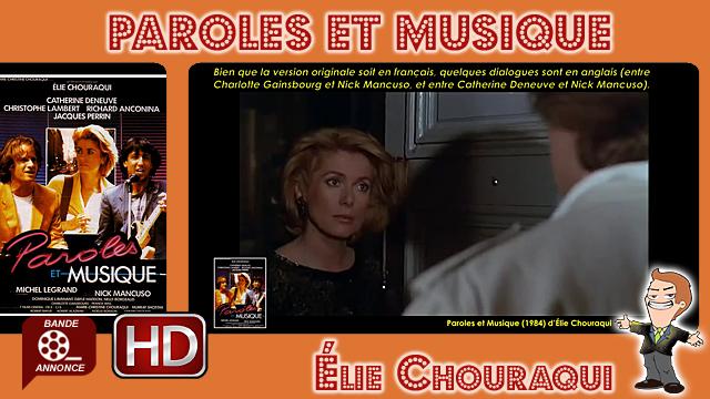 Paroles et Musique de Élie Chouraqui (1984)